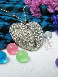 Bling Heart 64GB USB Pen Drive at Lowest Price U Disk pictures & photos