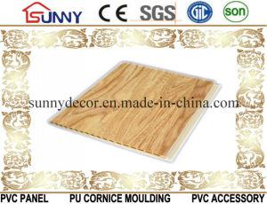 Wooden Color Laminated PVC Panel PVC Ceiling Plastic Wall Panel, Cielo Raso De PVC pictures & photos