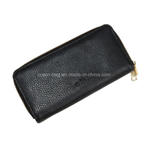 PU Leather Made Bio-Zip Men′s Wallet/Clutch/ Purse pictures & photos