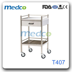 Stainless Steel Hospital Emergency Instrument Cart Surgical Trolley pictures & photos