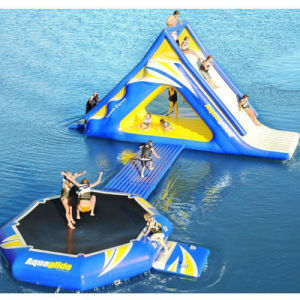 Water Park Game Inflatable PVC Tarpaulin Climb and Bouncer pictures & photos