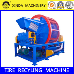Waste Scrap Tire Rubber Recycling Shredder pictures & photos