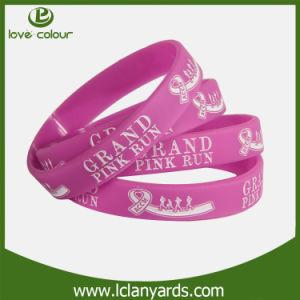 Popular Design Custom Made Elastic Band Silicon Wristband pictures & photos