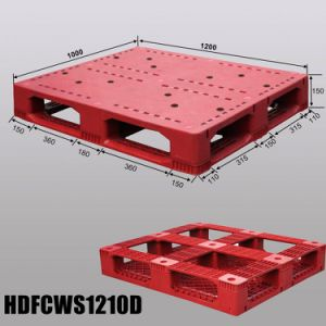 1200X1000 Wholesale Single Face Stacking Pallet Plastic Manufacturer pictures & photos