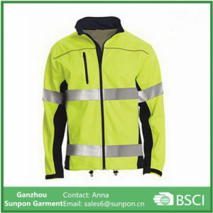 High Visibility Mens 100% Polyester Safety Reflective Jacket pictures & photos