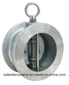 Wafer Type Double Disc Spring Check Valve H76 pictures & photos