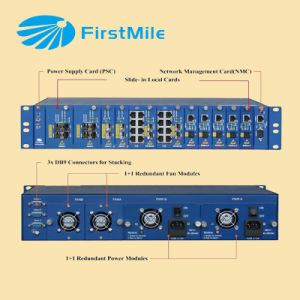 Bladed Managed Chassis Fiber Optic Media Converter pictures & photos