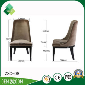 Italian Style of Beech Restaurant Chairs for Luxury Villa (ZSC-08) pictures & photos