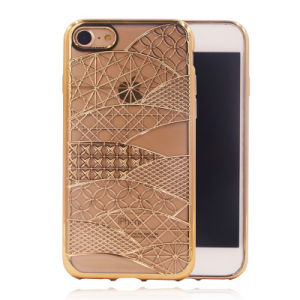 for iPhone 7g 7plus Plating Phoenix Pattern Case TPU Mobile Phone Accessories (XSDD-074) pictures & photos