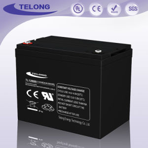 High Durability 12V60ah Rechargeable Solar Deep Cycle Lead-Acid Power Battery pictures & photos