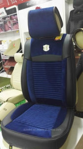 Linen and Leather Car Seat Cover 3D Shape pictures & photos