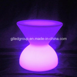 Plastic Outdoor Furniture LED Tables and Chairs