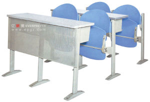 College Furniture Foldable Step Desk and Chair (GT-67) pictures & photos