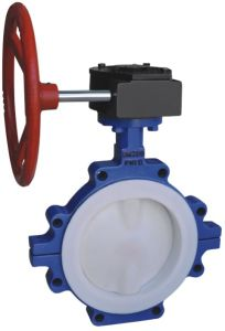 PFA Lined Manual Wafer Type Butterfly Valve ANSI for Chemical pictures & photos