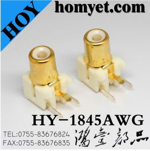 RCA Connector with Gold Plating in White (HY-1845AWG) pictures & photos