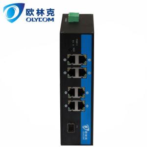 1Fiber+8UTP Ethernet Industrial Fiber Media Converter