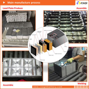 Cspower 2V200ah Deep Cycle AGM Battery for Solar Power System, China Manufacturer pictures & photos