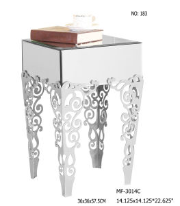 2017 Clear Mirror Table with Stainless Steel Legs pictures & photos