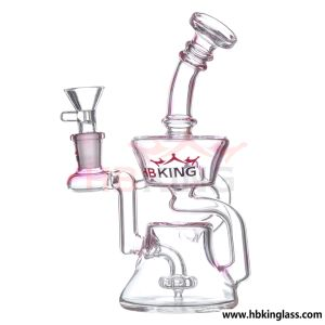 New Design Headshop Hitman Oil Rig DAB Bubbler Joint Nail Bowl Recycler Hookah Colorfull Glass Water Smoking Pipe pictures & photos