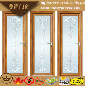 Houses Interior Decoration Aluminium Doors with Frosted Glass pictures & photos