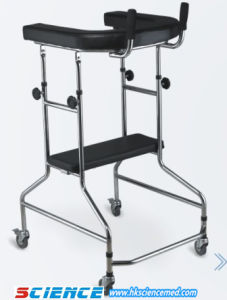 Steel Walker with 4 Castors with Seat Adjustable Height pictures & photos