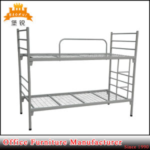 Cheap College Army School Black White Double Decker Metal Iron Frame Bunk Beds pictures & photos