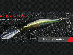 Plastic Fishing Lure (Transfer Minnow 80mm floating) pictures & photos