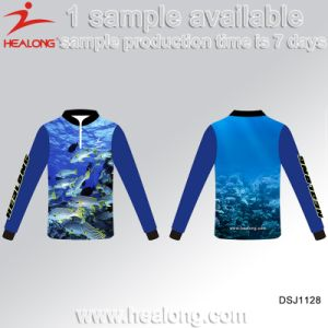 Healong Sublimated Wholesale Customized High Quality Fishing Wear Fishing Jersey pictures & photos