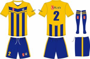 Blue and Yellow Soccer Uniform Soccer Jersey Soccer Wear with Your Own Logos pictures & photos
