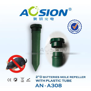 Short Plastic Tube Battery Operated Mole Repellent