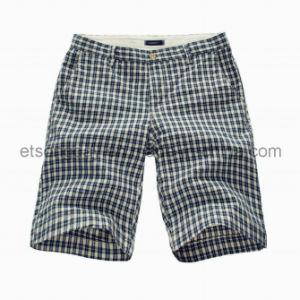 White and Black 100% Cotton Men′s Plaids Shorts (GT21382471) pictures & photos