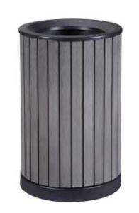 Eco-Friendly WPC Outdoor Rubbish Bin (DL102) pictures & photos