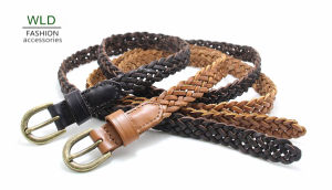 Fashion Basic Braided Genuine Top Leather Lady Belt Lky1178 pictures & photos