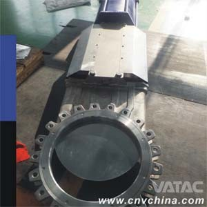 Double Acting Pneumatic Wafer Knife Gate Valve pictures & photos