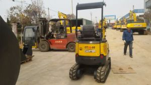 CT16-9d with Retractable Chassis&Rubber Tracks&Swing Boom Mini Excavator pictures & photos