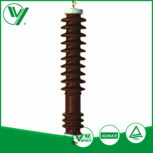 Rated Voltage 60kv Line Type Polymer Housing Lightning Arrestor Without Gaps pictures & photos