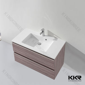 Bathroom Furniture Solid Surface Hand Wash Cabinet Basin pictures & photos