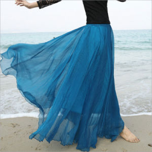 Chiffon Boho Beach Long Skirt for Holiday Skirt pictures & photos