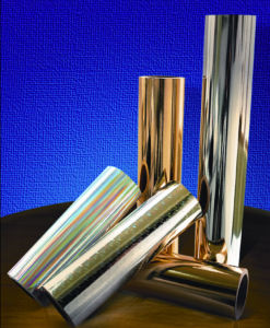 Golden / Silver Shinning Aluminum Foil Laminated Film pictures & photos