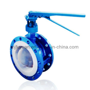 High-Quality FEP Lined Butterfly Valve (D71) pictures & photos