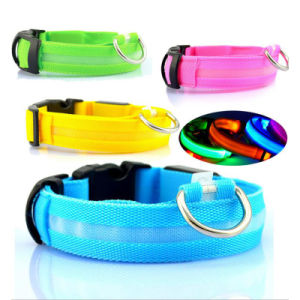 Night Safety LED Flashing Glow Nylon Pet Dog Collar