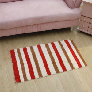 Anti-Slip Home Cotton Bath Mat/Rug with Latex Backing (Cot0090) pictures & photos