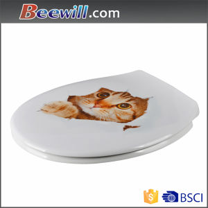 Novelty Printed Quick Release Soft Close Toilet Lid Cover pictures & photos