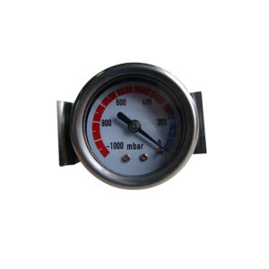 1.5inch-40mm Black Steel Case Back Brass Vacuum Gauge with U-Clamp pictures & photos