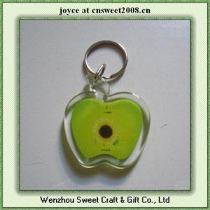 Custom Apple Shape Acrylic Key Chain pictures & photos