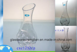 Clear Glass Bottle with Slant Top (JH-cxc1232cp) pictures & photos