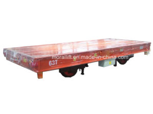 Hot Sale Heavy Duty Rail Handling Battery Flat cart pictures & photos