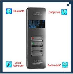 Wireless Bluetooth Mobile Cellphone USB Digital Voice Recorder (DVR-188)