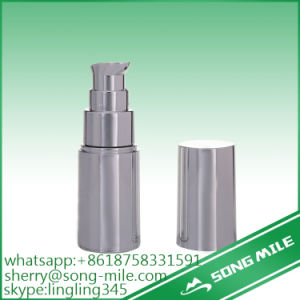 Silver Round Shape 15ml PP Airless Bottle with UV Coating pictures & photos