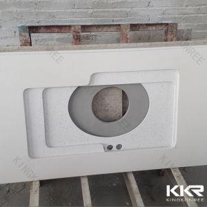 Ce Pure White 3cm Quartz Stone Kitchen Countertop (C1705121) pictures & photos